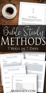 7 Bible Study Methods