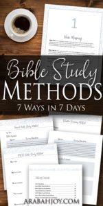 7 Bible Study Methods
