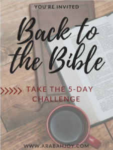 Back to the Bible 5 Day Challenge