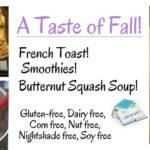 Fantastic Fall Recipes: Easy, Healthy Allergen Free Favorites